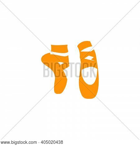 Ballerina Shoe , Ballet Shoe Logo Icon Design Vector