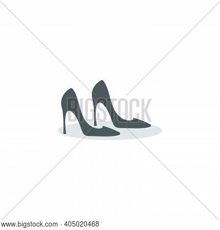 Woman Shoe ,high Heel Logo Icon Design Vector