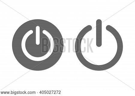 Shut Down Power On Or Off Logo Icon Vector Illistration