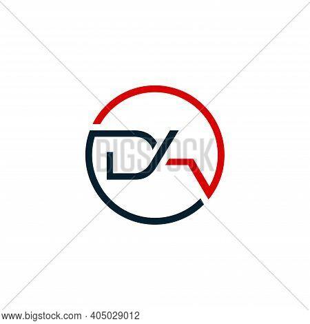 Da Logo. Company Logo. Monogram Design. Letters D And A.