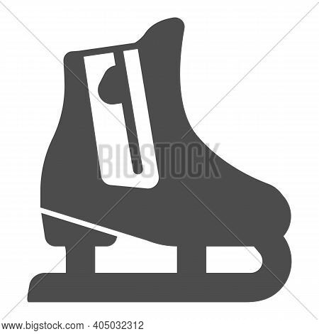 Skates Solid Icon, Winter Season Concept, Skating Sign On White Background, Hockey Skates Symbol In