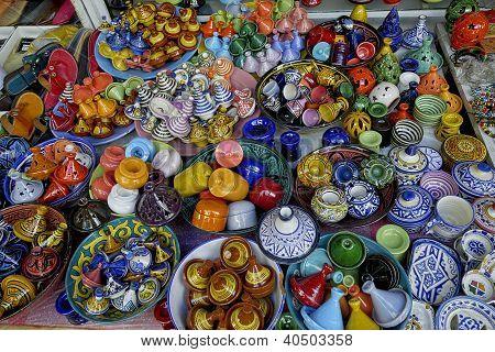Arab multicolored porcelain