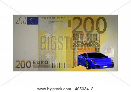 The car and the two hundred euro bill