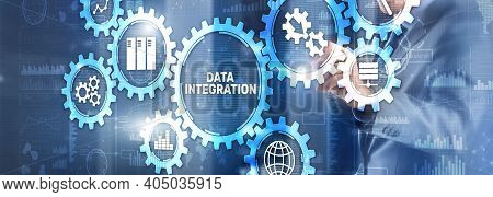 Data Integration Business Internet Technology Concept. Mixed Media.