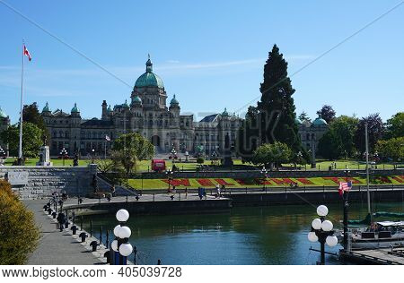 The British Columbia Parliament Buildings And The Legislative Assembly Of British Columbia. Victoria