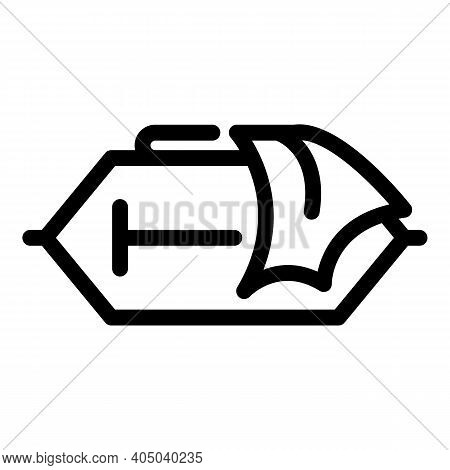 Wet Tissue Box Icon. Outline Wet Tissue Box Vector Icon For Web Design Isolated On White Background