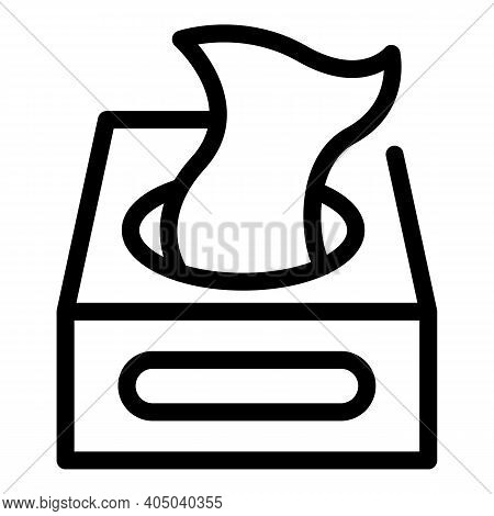 Textile Wipes Box Icon. Outline Textile Wipes Box Vector Icon For Web Design Isolated On White Backg