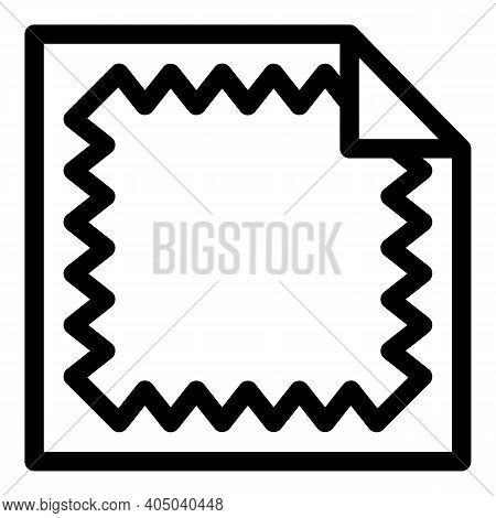 Tissue Tabel Napkins Icon. Outline Tissue Tabel Napkins Vector Icon For Web Design Isolated On White