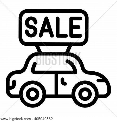 Rent Car Icon. Outline Rent Car Vector Icon For Web Design Isolated On White Background