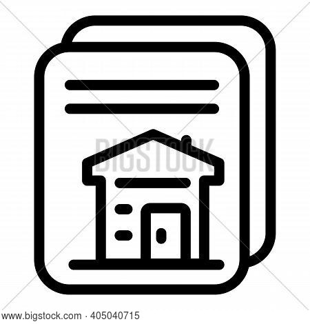 Rental Houses Icon. Outline Rental Houses Vector Icon For Web Design Isolated On White Background