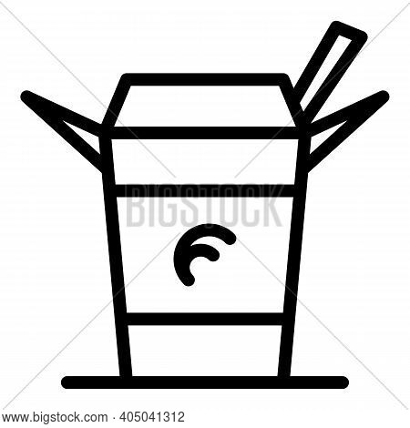 Wok Food Icon. Outline Wok Food Vector Icon For Web Design Isolated On White Background
