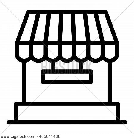 Floating Seller Icon. Outline Floating Seller Vector Icon For Web Design Isolated On White Backgroun