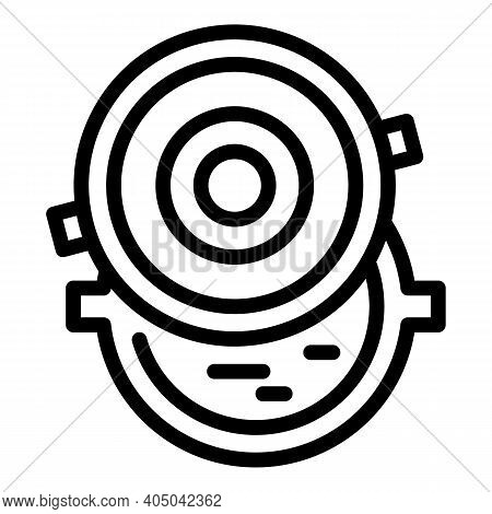 City Sewer Icon. Outline City Sewer Vector Icon For Web Design Isolated On White Background