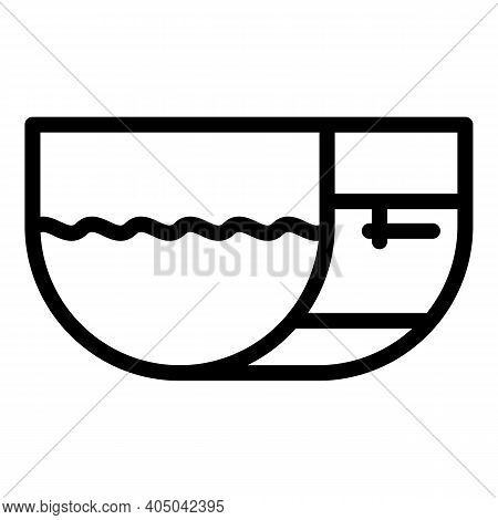 Canalization Tank Icon. Outline Canalization Tank Vector Icon For Web Design Isolated On White Backg