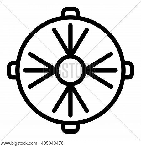 Drain Manhole Icon. Outline Drain Manhole Vector Icon For Web Design Isolated On White Background