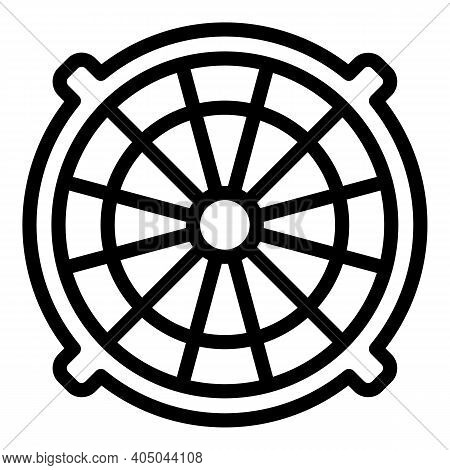 Underground Manhole Icon. Outline Underground Manhole Vector Icon For Web Design Isolated On White B