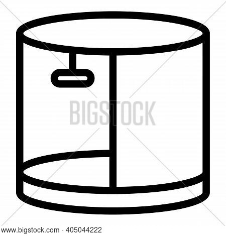 Shower Stall Icon. Outline Shower Stall Vector Icon For Web Design Isolated On White Background
