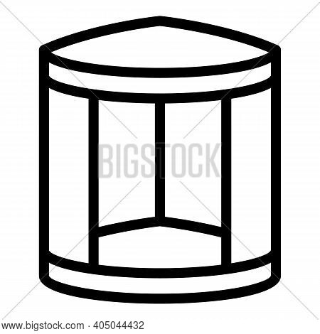 Corner Shower Cabin Icon. Outline Corner Shower Cabin Vector Icon For Web Design Isolated On White B