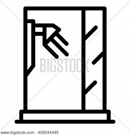 Water Stall Icon. Outline Water Stall Vector Icon For Web Design Isolated On White Background