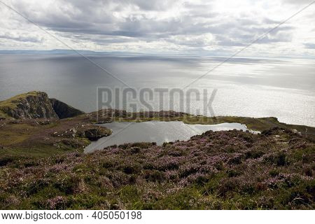 Donegal (ireland), - July 25, 2016: Slieve League Cliffs, Co. Donegal, Ireland.