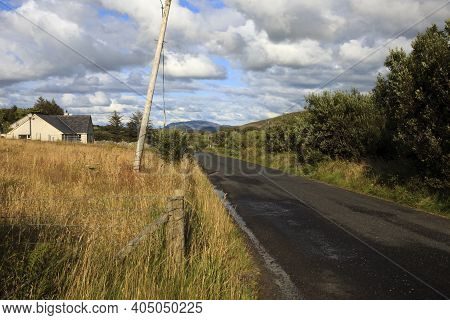 Donegal (ireland), - July 25, 2016: Donegla Internal Road, Co. Donegal, Ireland