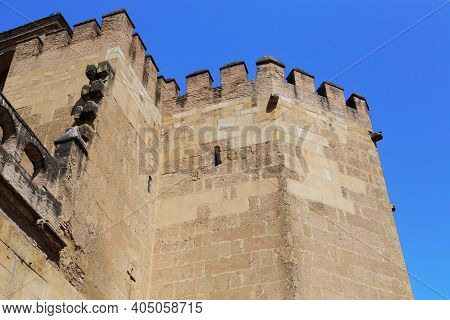Cordoba, Spain - May 23, 2017: This Is A Fragment Of The Outer Fortifications Of The Alcazar Of The
