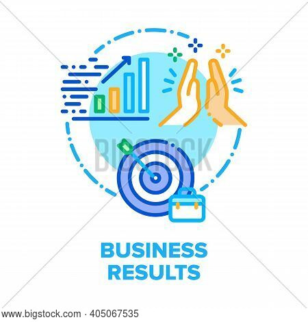 Business Result Vector Icon Concept. Process From Idea To Result, Competitive Advantage And Strategi