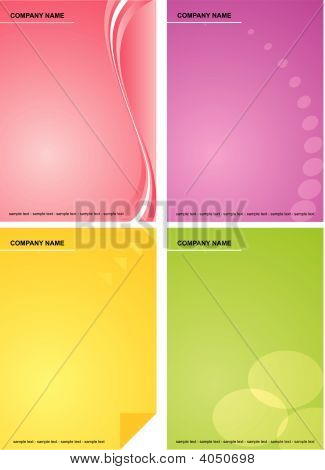 Set Of Colorful Business Backgrounds