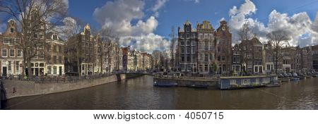 Panorama From Amsterdam In The Netherlands