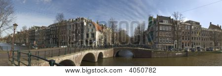 Panorama Amsterdam Inner City in the Netherlands