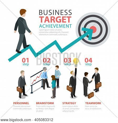 Vector Illustration Of Business Situations Thematic Infographics Concept. Usable For Banner, Poster,