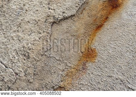 A Metal Surface Coated With Oxides As A Result Of A Chemical Reaction. Chemical Erosion Of Metal. Hy