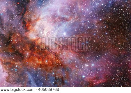 Galaxy Somewhere In Outer Space. Elements Of This Image Furnished By Nasa