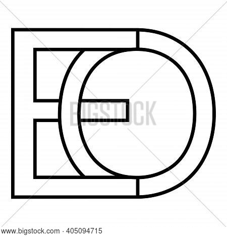 Logo Sign Eo Oe Icon Sign Interlaced Letters O, E Vector Logo Eo, Oe First Capital Letters Pattern A