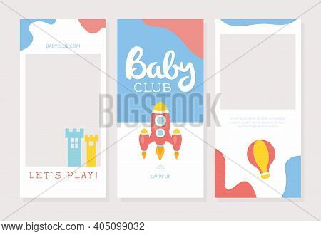 Baby Club Banner Template, Entertainment Playground, Educational Club Poster, Invitation, Flyer Desi