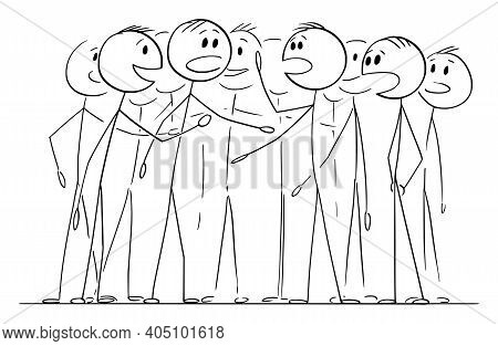 Crowd, Team Or Group Of People Is Chattering Talking Or Speaking, Concept Of Communication , Vector