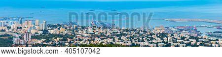 Haifa Cityscape Aerial View, Israel