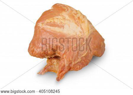 Ham On An Isolated White Background. Fresh Ham