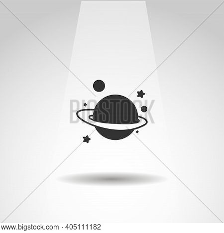 Space Vector Icon, Simple Saturn Planet Icon