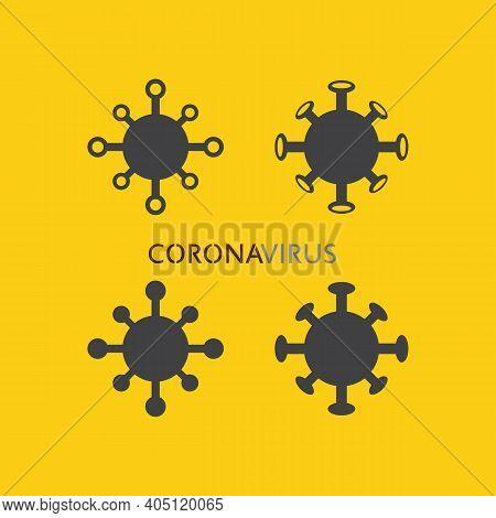 Corona Virus Logo Virus Vector, Vaccin Logo,infection Bacteria Icon And Health Care Danger Social Di