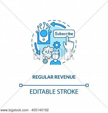 Regular Revenue Concept Icon. Saas Benefit For Developers Idea Thin Line Illustration. Monthly Recur