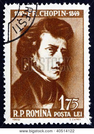 Postage stamp Romania 1960 Frederick Chopin, Polish Composer