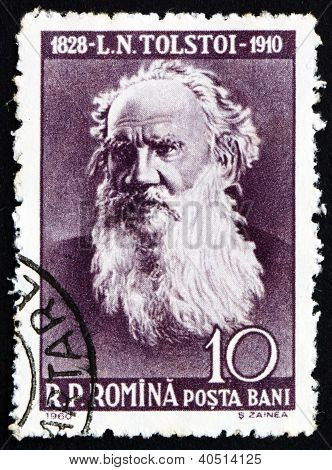 Postage stamp Romania 1960 Leo Tolstoy, Russian Writer