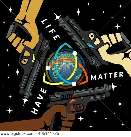 Triad Criminal Sindicate, Interracial Concept Vector Illustration