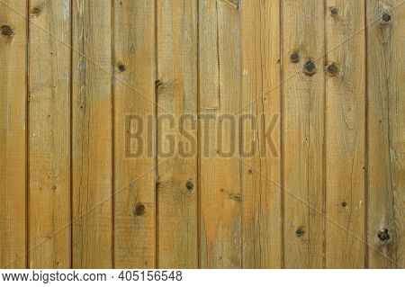 Old Brown Vertical Boards As Background Horizontal Front View Photo Closeup
