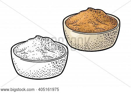 Miso. Vector Black Vintage Engraving Illustration Isolated On White Background