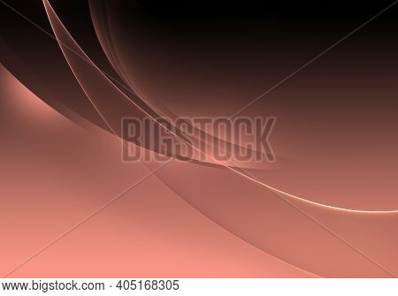 Abstract Background Waves. Black And Peach Pink Abstract Background For Wallpaper Or Business Card