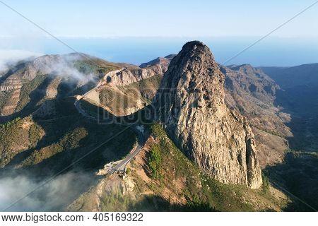 Roque De Agando, La Gomera, Canary Islands. High Quality Photo