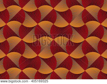 African Wax Print Fabric, Ethnic Kanka Kikoy Ornament For Your Design, Colorful Tribal Motifs, Overl