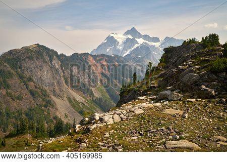 Mt. Shuksan Whatcom County Washington State. Mt. Shuksan In The Washington State Cascade Mountain Ra